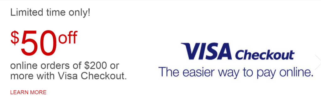 staples visa checkout 50 off 200