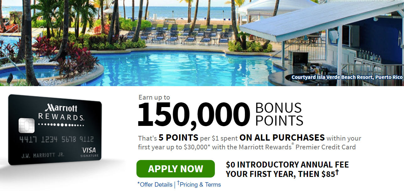 Marriott 150,000 point offer
