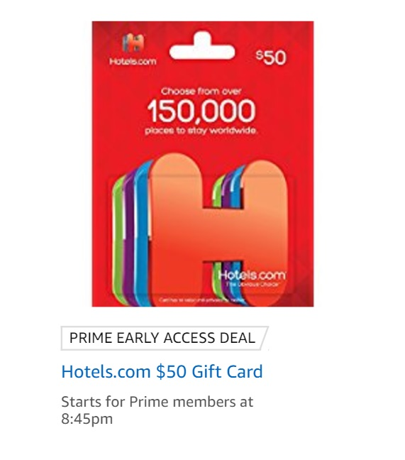 $40 for $50 Hotels.com Gift Card Tonight - Frequent Miler