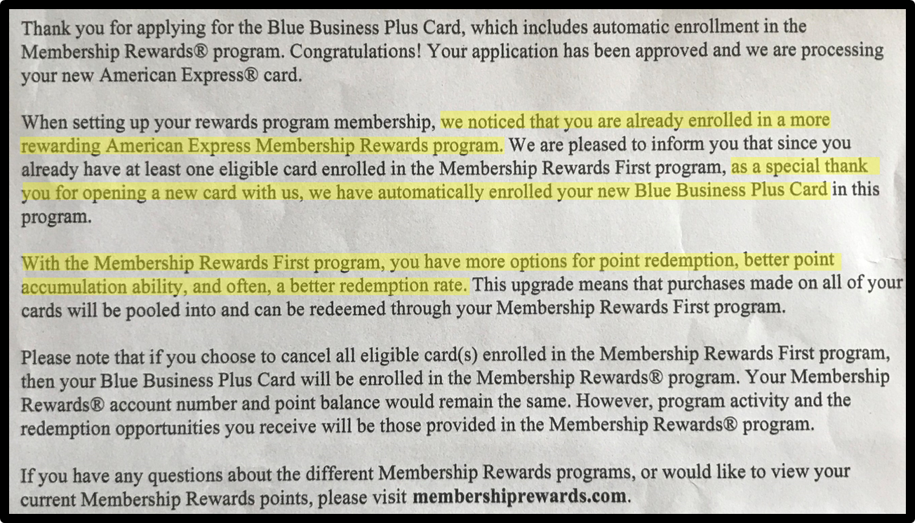 Membership Rewards First