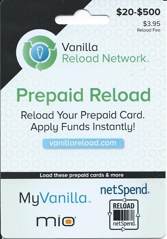 vanillareload - Can I Load A Prepaid Card With A Credit Card