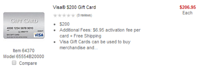 Best ways to use $13 Visa gift cards