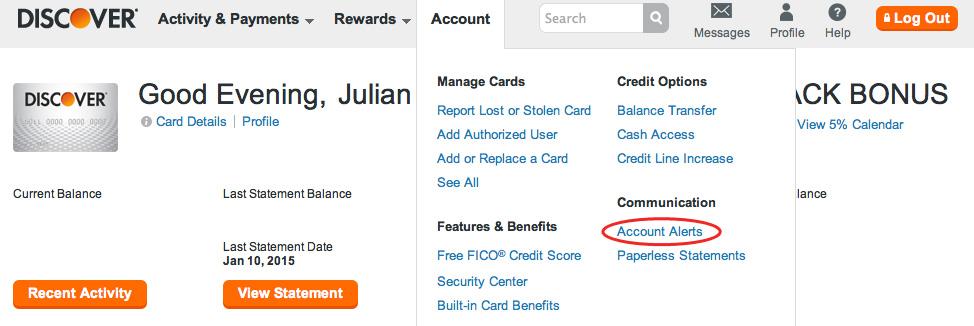 credit card fraud alert