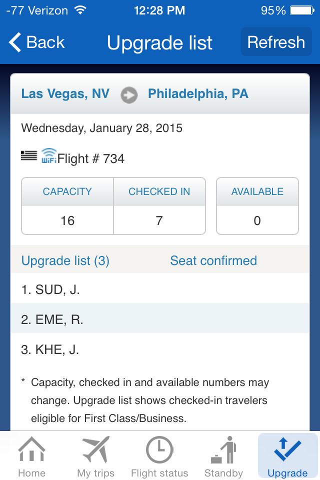 us airways upgrade list