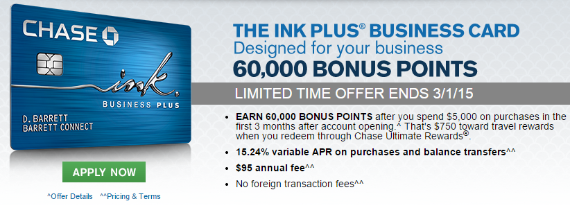 chase ink plus bonus