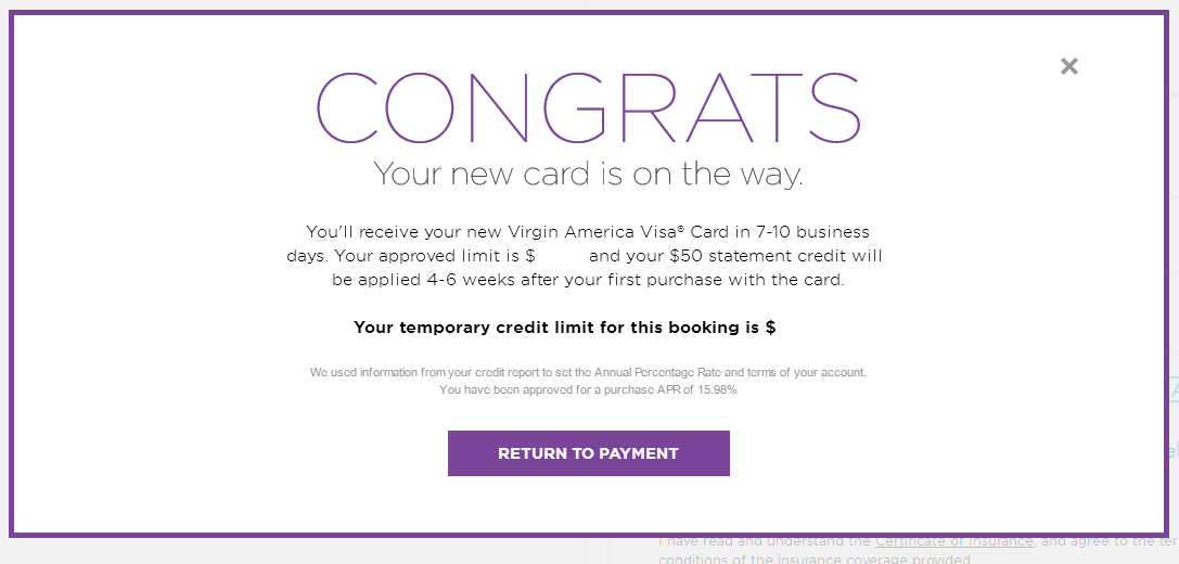 Bet you didnt know a 50 credit on the virgin america card using virgin america credit card reheart Choice Image