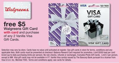 walgreens vanilla visa deal