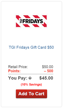 AARP Rewards for Good Redeem gift card