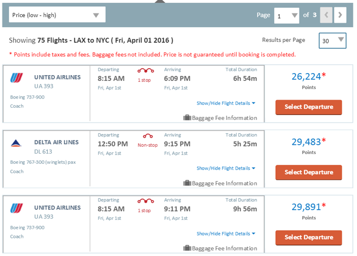 CNB Rewards Flights LAX NYC