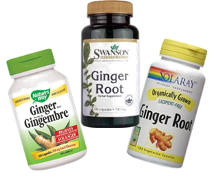 motion sickness cure Ginger root capsules