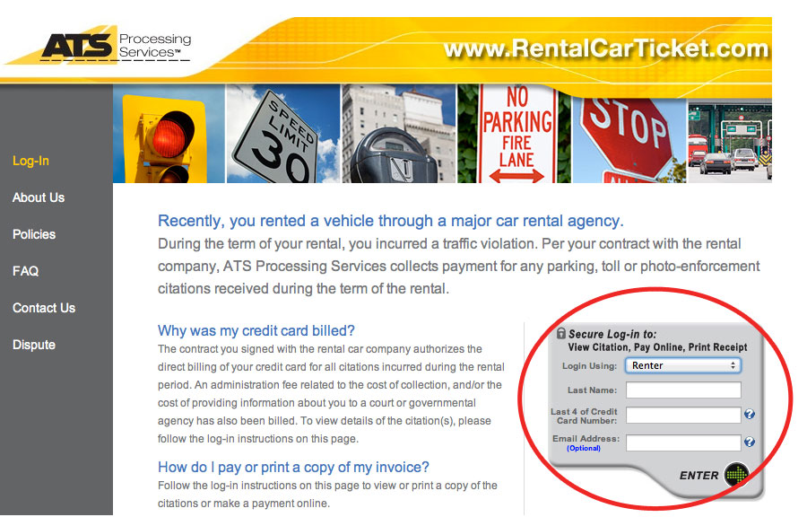 car rental tolls