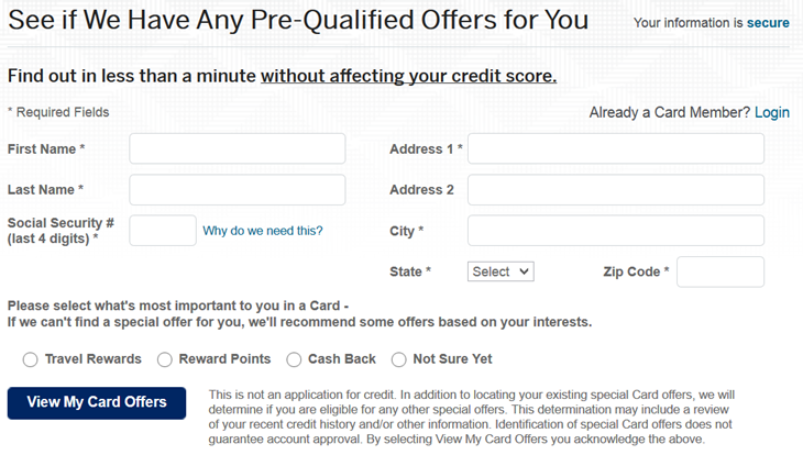 Amex signup bonus offers: check for pre-qualified offers
