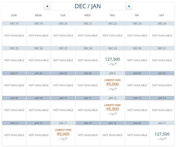 Destination Cape Town DTW to CPT One Stop Options Delta from DTW Calendar