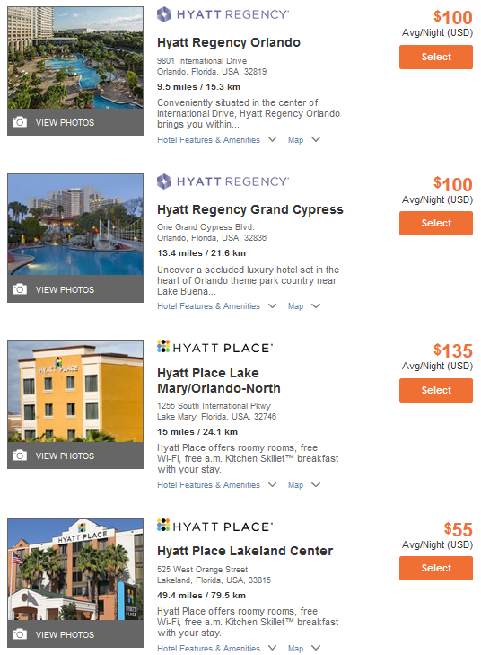 Hyatt Points plus Cash Corporate Code Trick Search Results