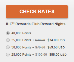 ihg points and cash deal