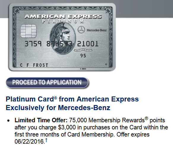 mercedes benz platinum card 75 000 point offer frequent