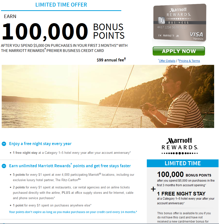 Marriott 100,000 offer
