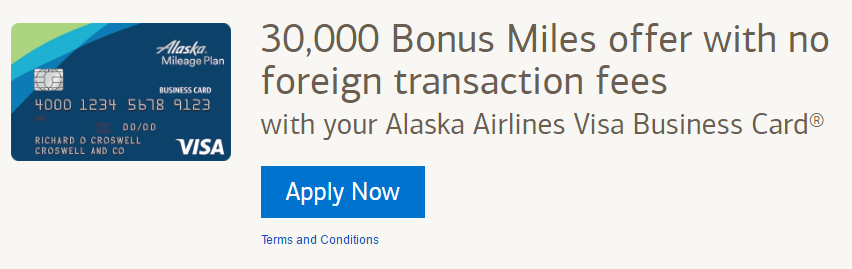 bofa alaska business 30K