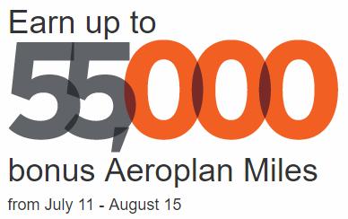 aeroplan 55k transfer bonus