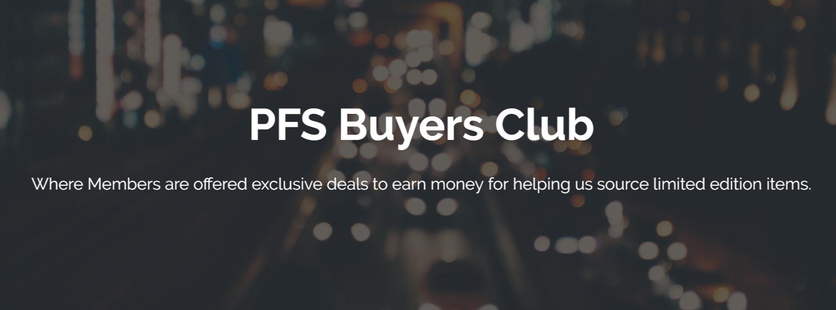 pfs buyers club coin