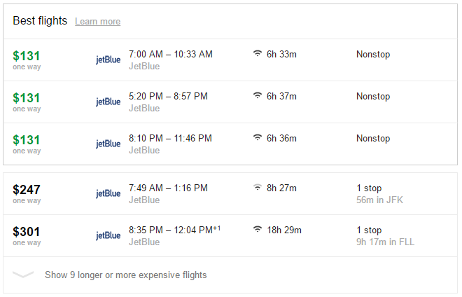 csr-investigate-point-value-jetblue-via-google-flights