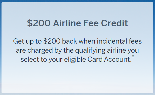 Amex Airline Fee Credits
