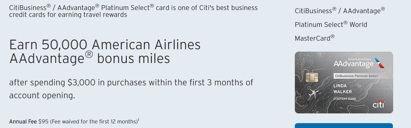 Citibusiness aadvantage 50k offer without 24 month language citibusiness offer reheart Gallery