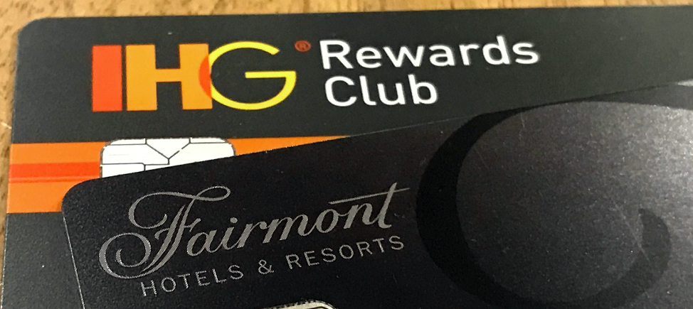 Fairmont and IHG cards