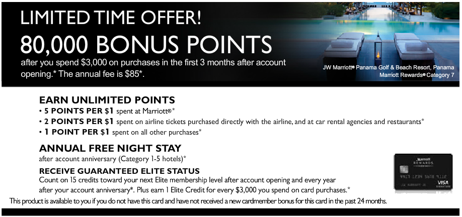 Marriott Rewards Premier 80K Offer