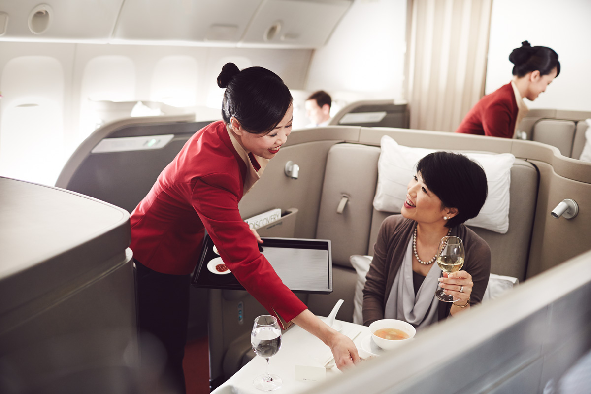 Use companion tickets for business and first class flights