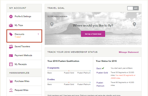 Hawaiian Airlines Companion Discount Certificate Redeem