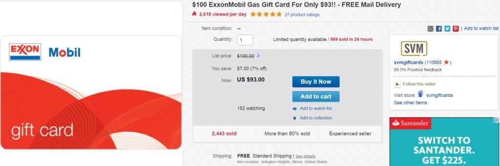 100 Exxon for 93
