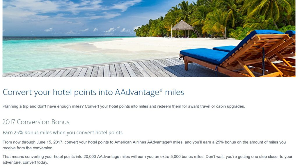 AA hotel points promo