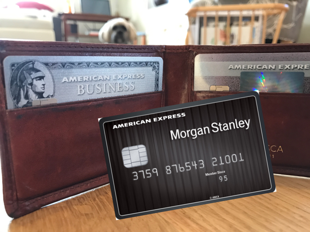 Morgan Stanley Amex plus Biz Plat plus ED Preferred plus Dog