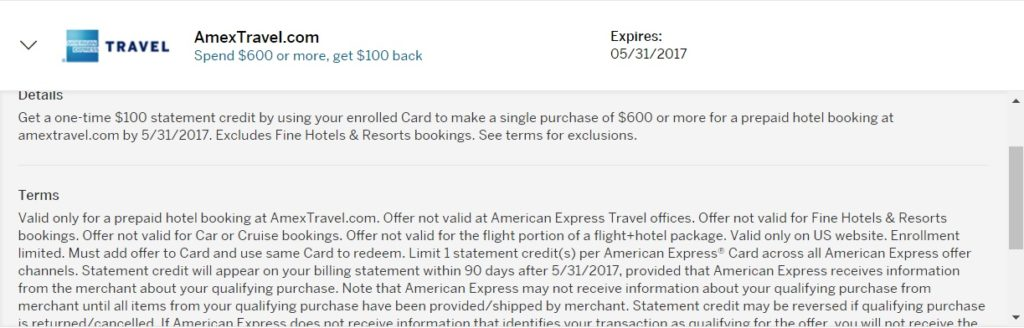 AmexTravel Offer