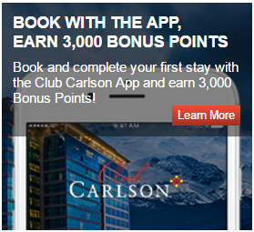 Club Carlson Book with App 3K Points