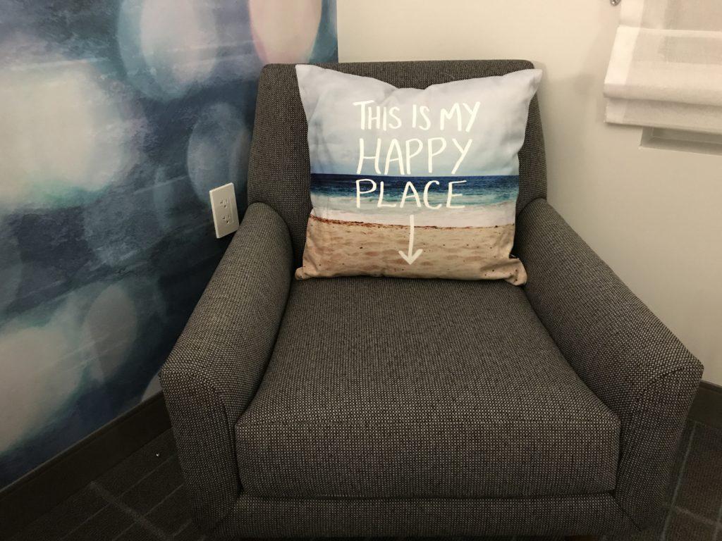 LAX Hotel Cambria happy chair