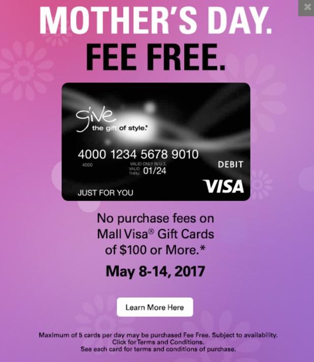 Fee-Free Visa Gift Cards Macerich Malls