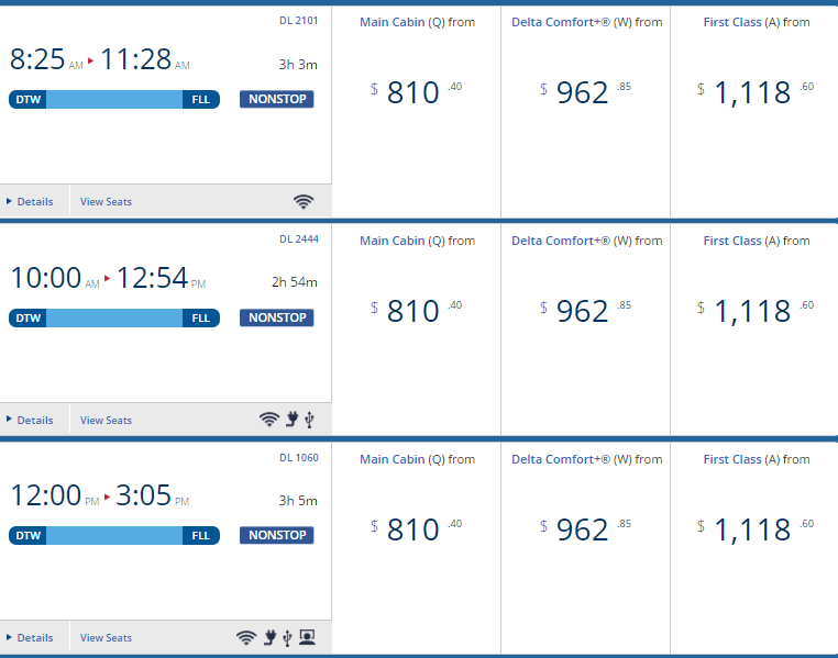 Delta First Class Great Companion Ticket Deal Glitch