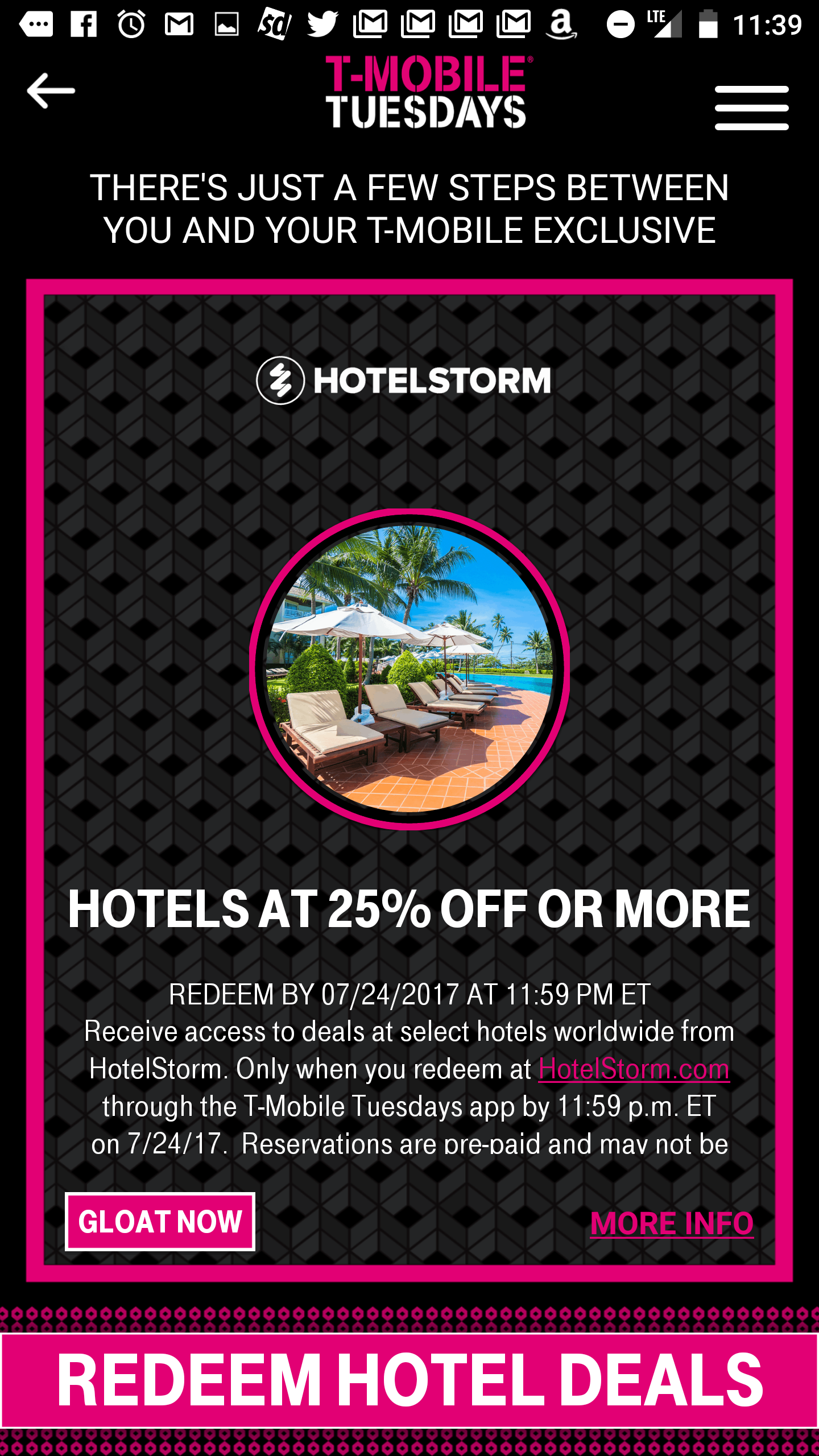 Huge hotel discount with t mobile tuesday frequent miler this obviously wasnt a coupon code for a straight 25 off i immediately assumed this was just a flowery way of saying that hotelstorm fandeluxe