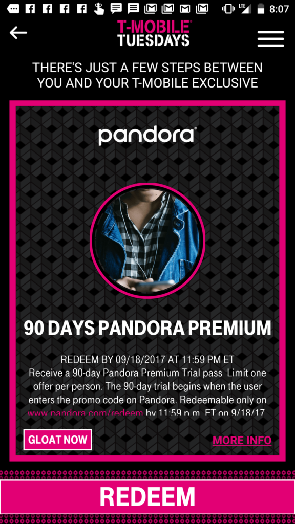Free Netflix subscription, Pandora Premium 90-day trial with