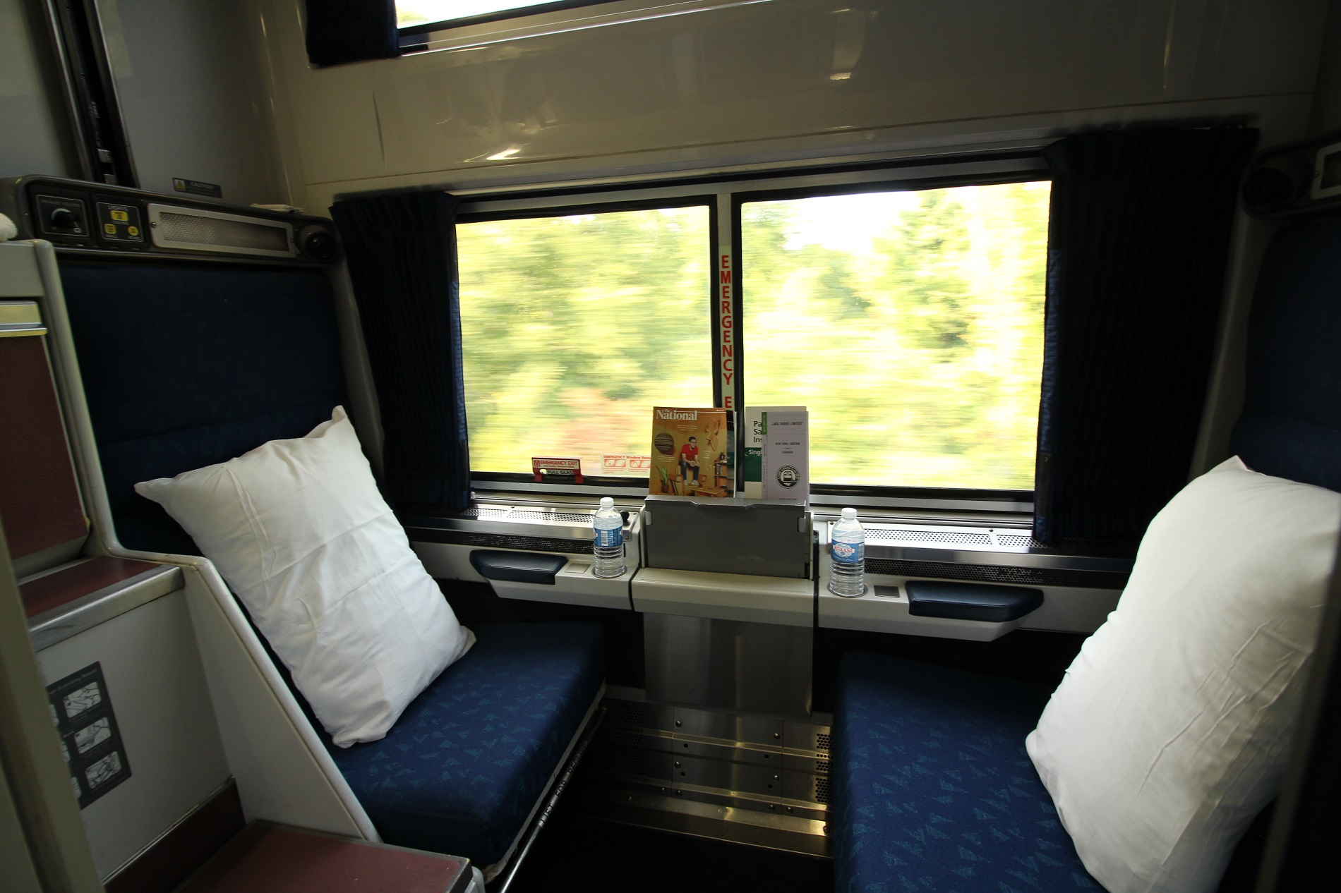 Photos and descriptions of my Amtrak overnight train on the Silver Meteor traveling between Florida and NYC. Plus Amtrak dining, sleepers and views.