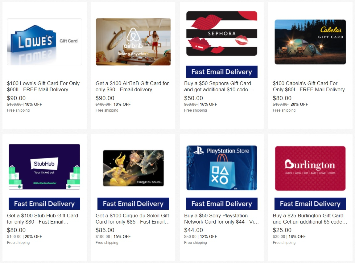Expired Gift Card Deals Amazon Ebay Cashtar Itunes Best Buy Many More
