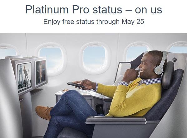 American Airlines Platinum Pro status