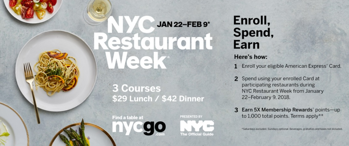 NYC Restaurant Week 2018