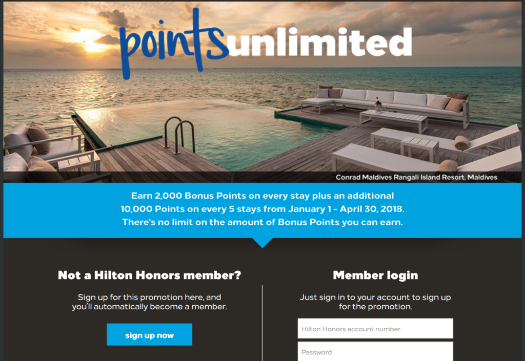 Hilton HHonors Free Hotel Nights
