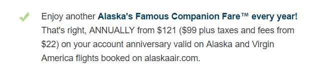 Alaska airlines companion fare complete guide alaska airlines visa signature card and the alaska airlines visa business this single use benefit repeats each year and can be used to enormous value colourmoves