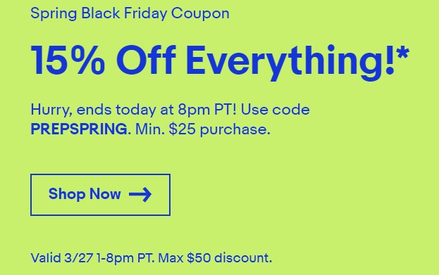 Get 15% Off eBay Sitewide – Today Only