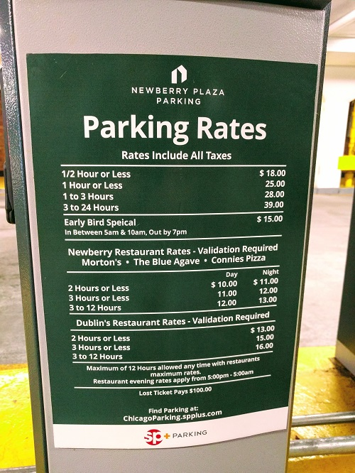 Newberry Plaza parking rates