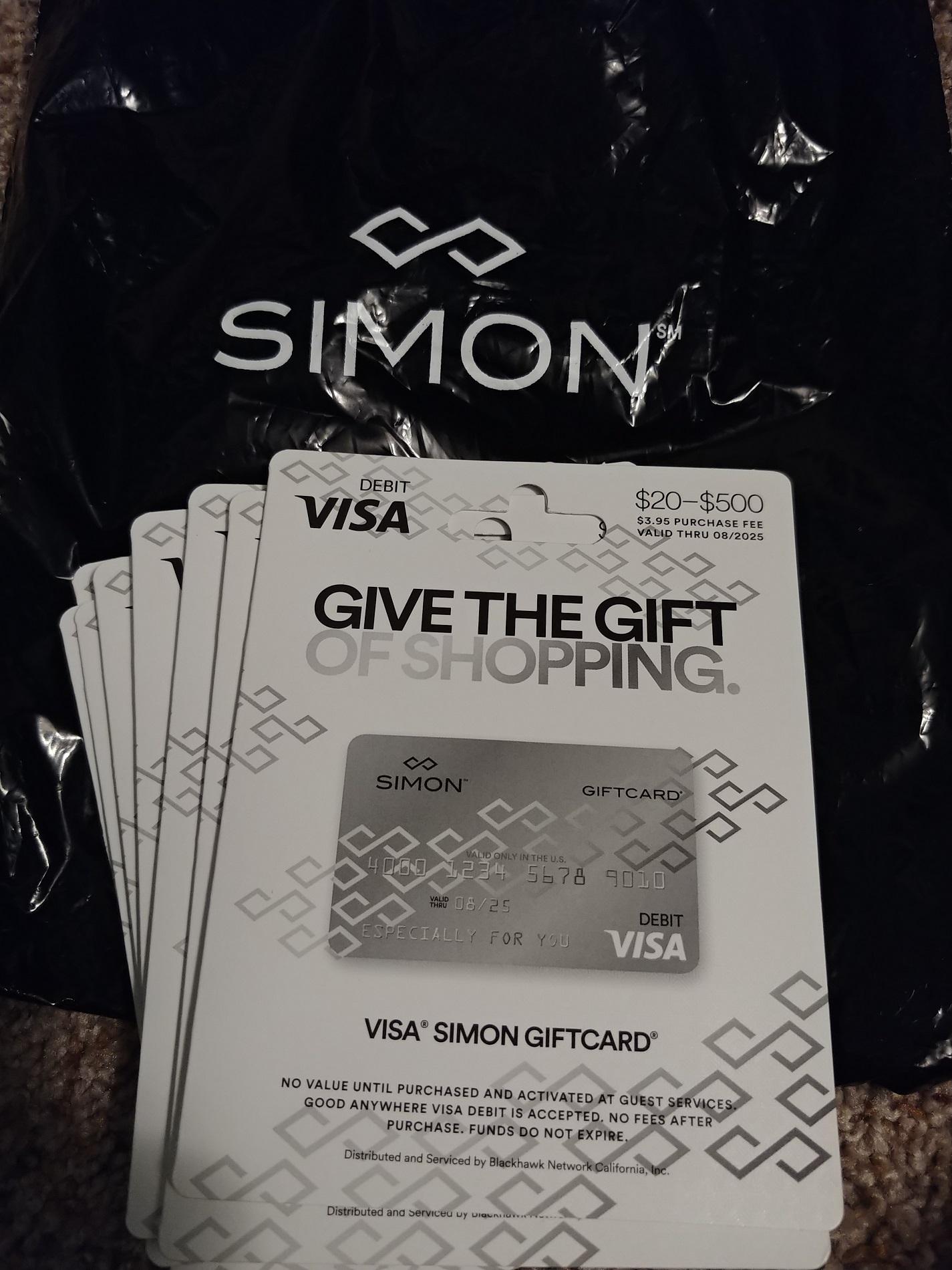 No $1K gift cards at Simon Mall